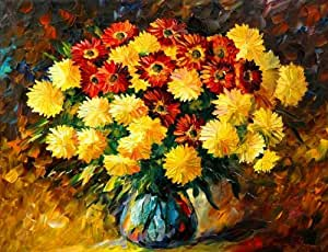 "Dreaming_Deco_Art 100% Hand Painted Oil Painting -Vincent Van Gogh Like Style Flowers 20"" X 24"" Classic Size on Canvas Wall Art"