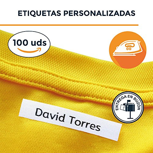 100 etiquetas para marcar la ropa de los niños (ETIQUETA THERMOADESIVA)