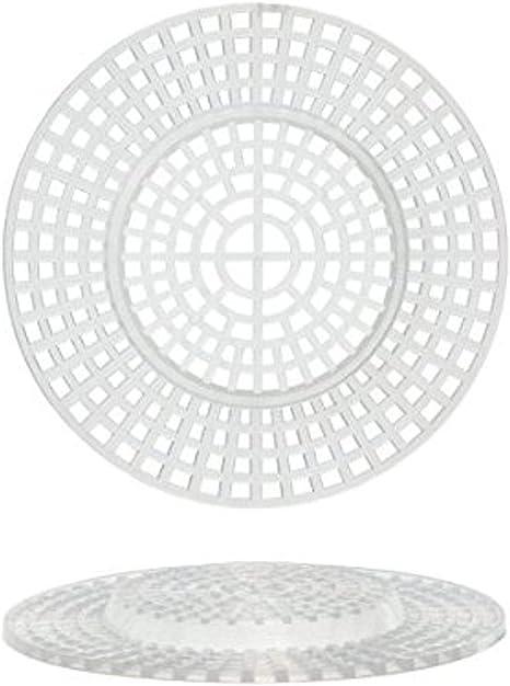 Plastic Canvas Shapes 7 Count 3 10//Pkg-Circles W//Raised Center Clear