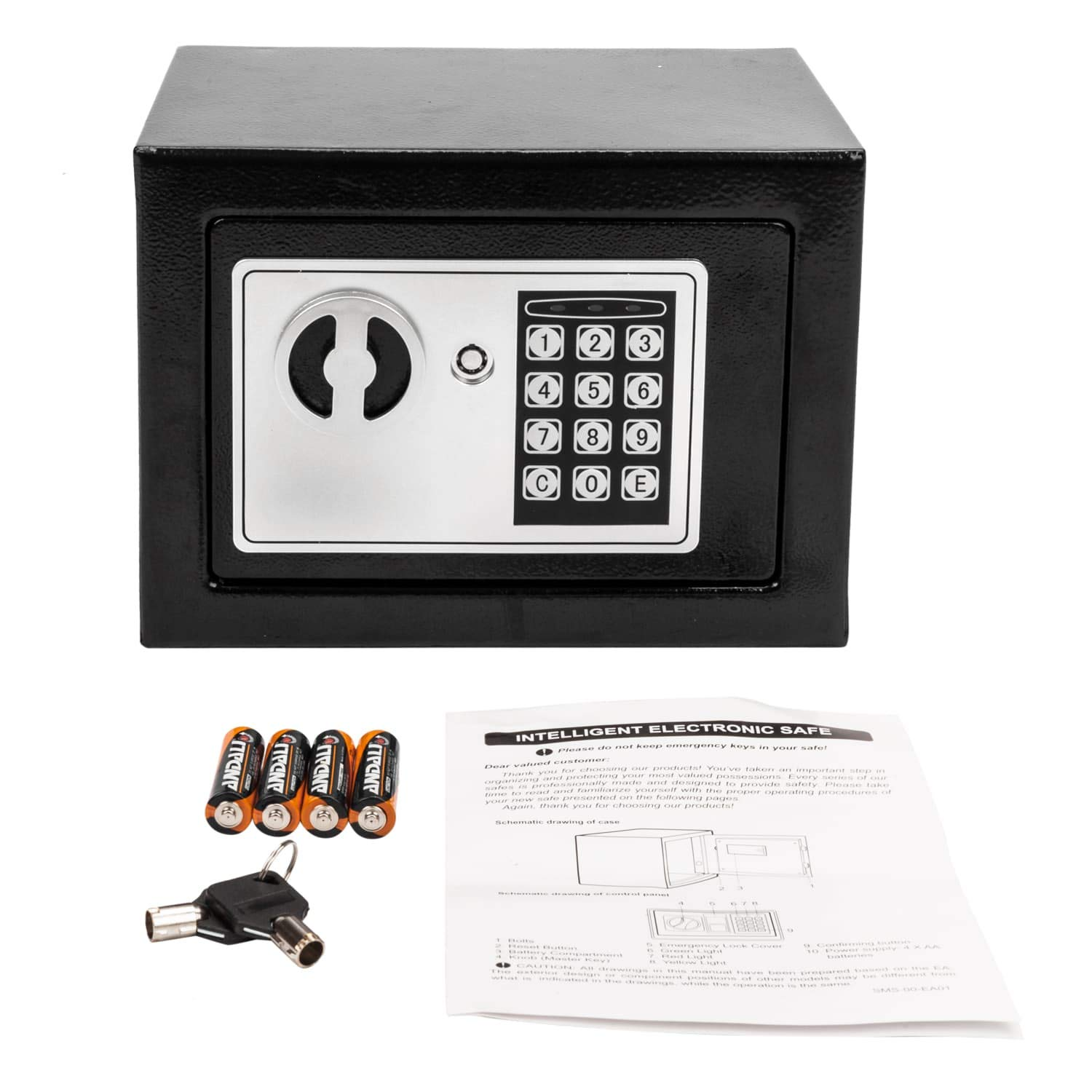 Security Safe Box, Digital Safes Keypad Deposit Lock Safe Home & Office Safe for Document Money Jewelry Black 0.22 Cubic Feet(0.22 CF) by AGOLUO