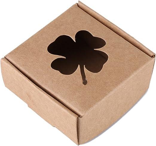 Biitfuu Cajas de panadería marrón de 10 Piezas Cajas de Embalaje ...