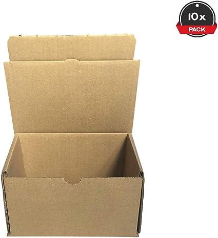Cajeando | Pack de 10 Cajas de Cartón Automontables | Tamaño 17 x 12 x 10 cm | Para Envíos y Mudanzas | Color Marrón y Microcanal | Fabricadas en España: Amazon.es: Oficina y papelería