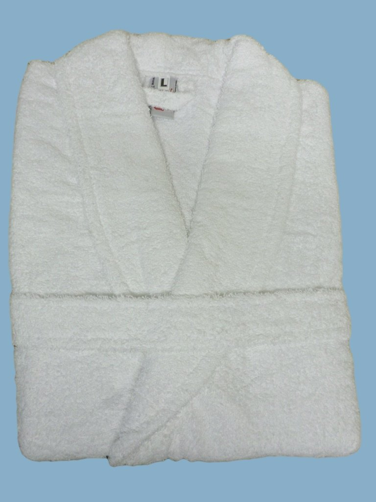 Adult Bath Robe with a HOT AIR BALLOON Logo and Name of your choice in White, Size Medium, Large, XLarge or XXLarge (Medium)