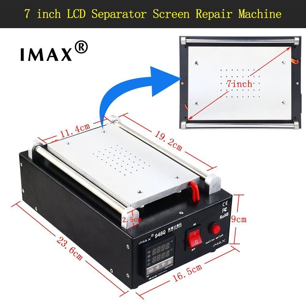 Imax Lcd Screen Separator Machine Touch Digitizer Toshiba Washing Wiring Diagram Removal Cell Phone Glass Plate Build In Pump Vacuum Repair For Smart