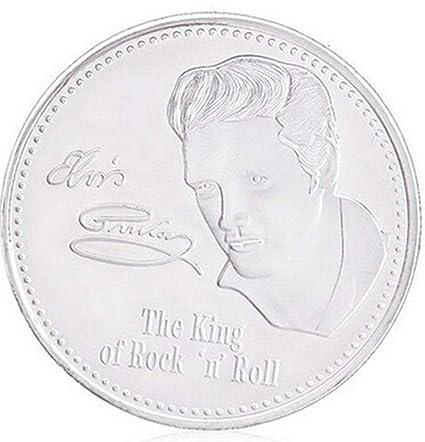 Amarzk Elvis Presley Commemorative Coin 1935-1977 The King Of Rock N Roll Art Souveni Gold
