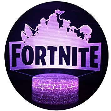 Fortnite 3D Lámpara de Escritorio Win-Y LED 7 del tacto del color de la