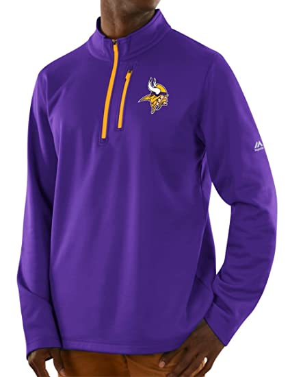 sale retailer c9163 7fce7 Majestic Minnesota Vikings NFL Scoring Men's 1/2 Zip Midweight Sweatshirt