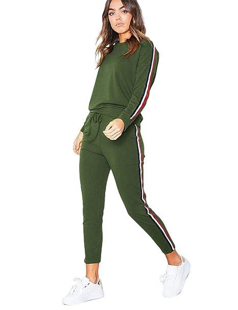 02eca9eac4 Women Casual Tracksuit Set 2 Piece Outfit Sweatshirts & Sweatpants ...