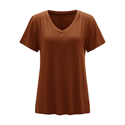 Floerns Womens Solid Basic Long Sleeve Button Up Scroop Neck Henley Shirts Tee