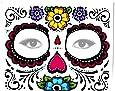 Sugar Skull Full Face Temporary Tattoo