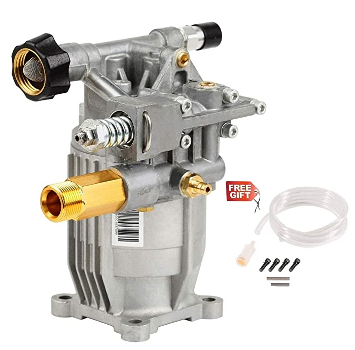 "YAMATIC Horizontal Pressure Washer Pump 2900 PSI 2.3 GPM 6.5HP 3/4"" Shaft Replacement fit for Himore 309515003 308418007 Honda GC160 Karcher K2400HH G2400HH Troy-Bilt 020242 UT80522 Generac Powerstrok"