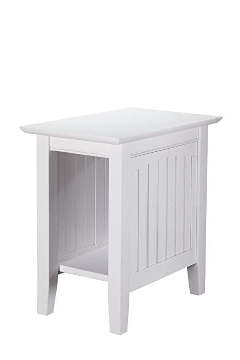 Atlantic Furniture AH13302 Nantucket Chair Side Table, White
