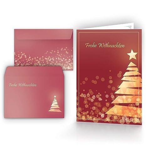 Cartoline Di Auguri Di Natale.Cartoline Di Natale Con Buste Set Da 15 Biglietti Con Albero Di