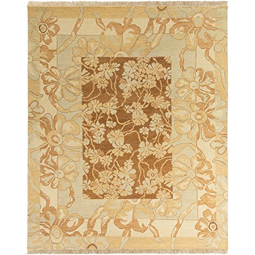 Surya Sonoma SNM-8983 Transitional Hand Knotted 100% New Zealand Wool Cognac 8' x 10' Area - Sonoma Cognac