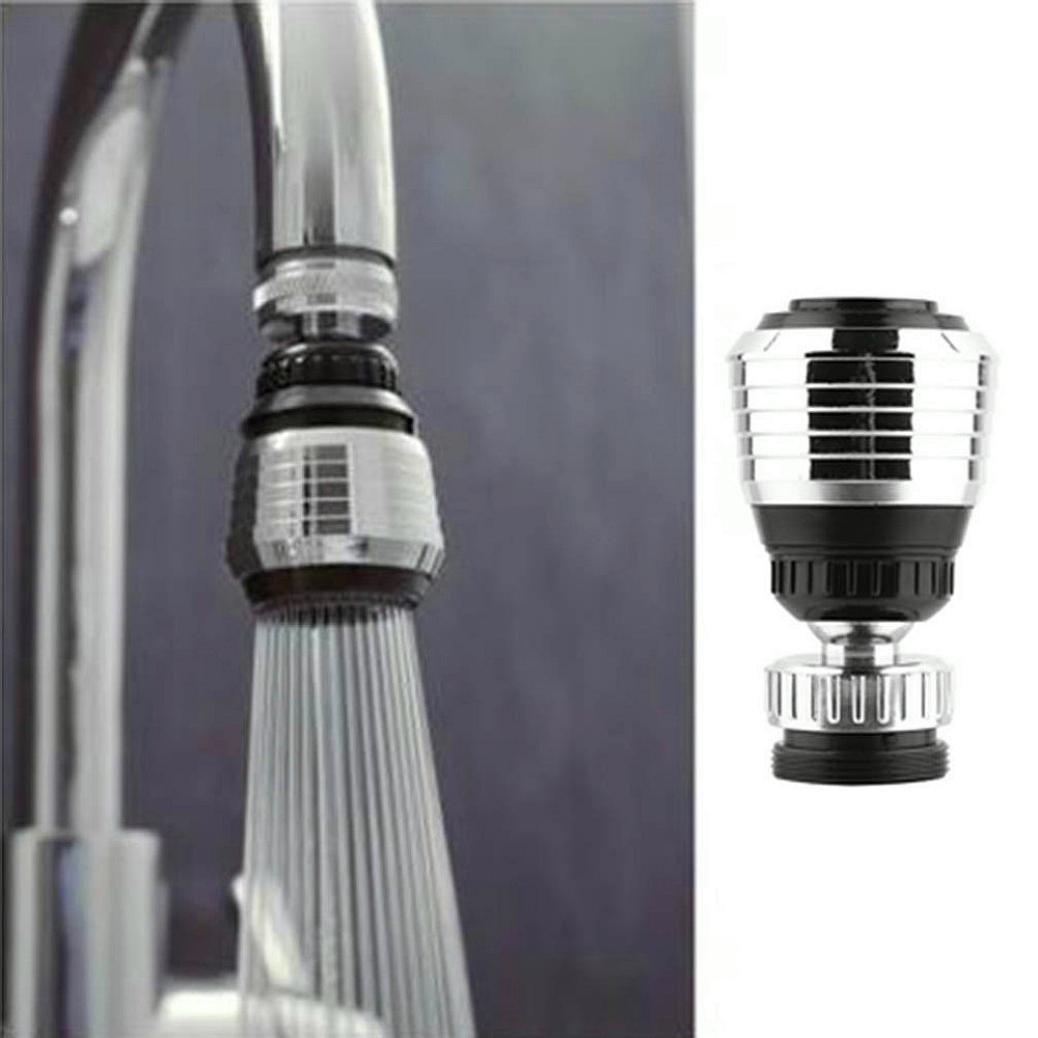 Winkey Accessoires de Cuisine, 360Rotation pivotant robinet Buse Torneira adaptateur de filtre à eau purificateur d'eau d'économie d'aérateur de robinet Diffuseur