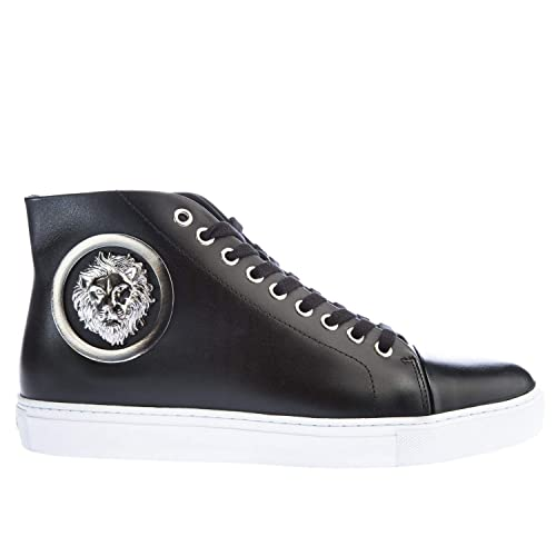 Versus Versace Mens Silver Lion High Top Trainers: Amazon.co ...