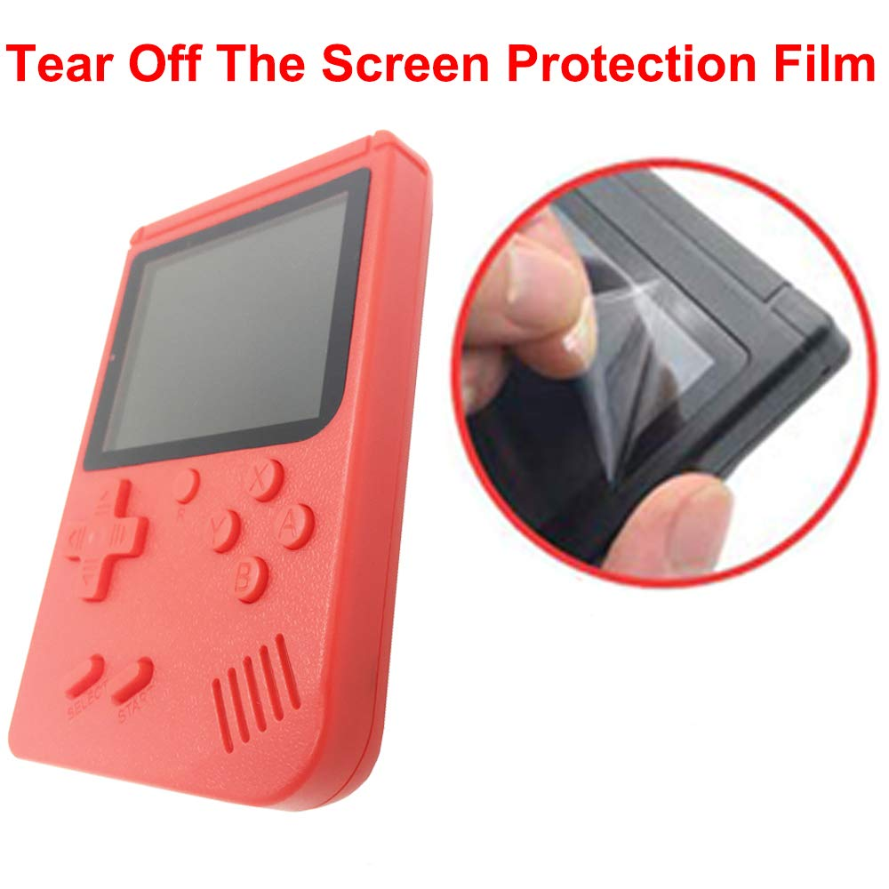 Mini Retro Handheld FC Games Consoles ,Built-in 400 Classic Game, Portable Gameboy 3 Inch LCD Screen TV Output ,Good Gifts for Kids Boys Girls Men Women (Games Consoles Red) by Come-buy (Image #2)