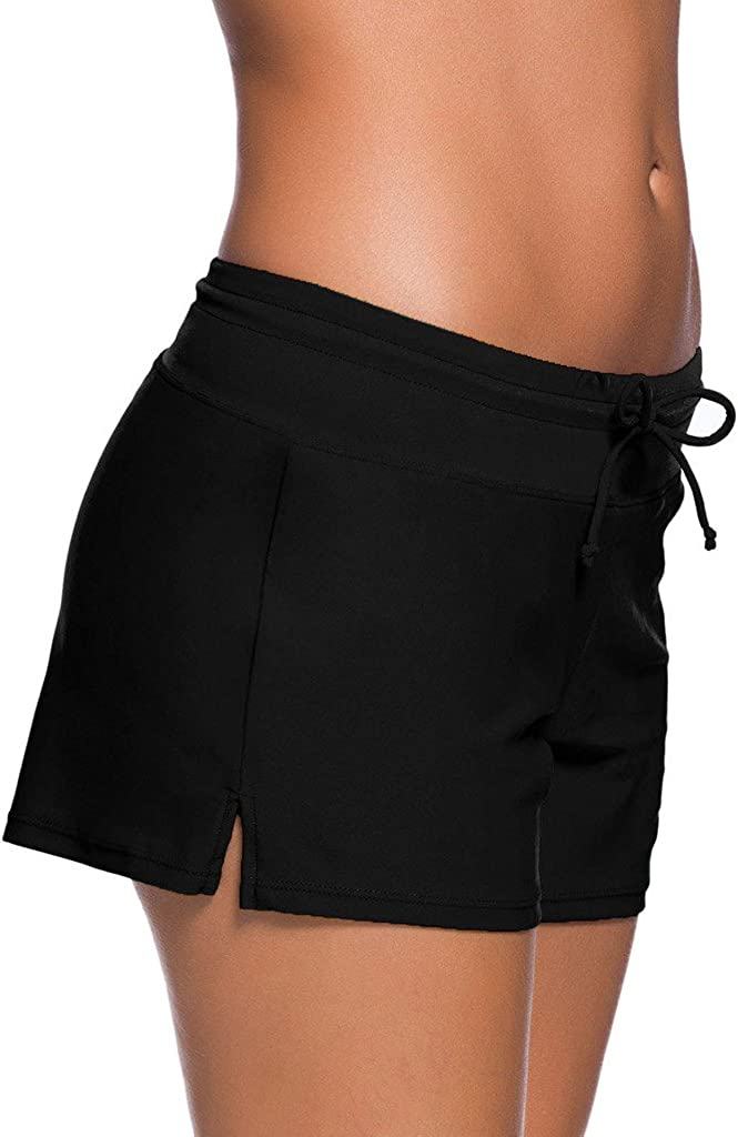 /Ba/ñador para Mujer Side Split Plus tama/ño Inferior Junta Shorts Happy Sailed Tankini/