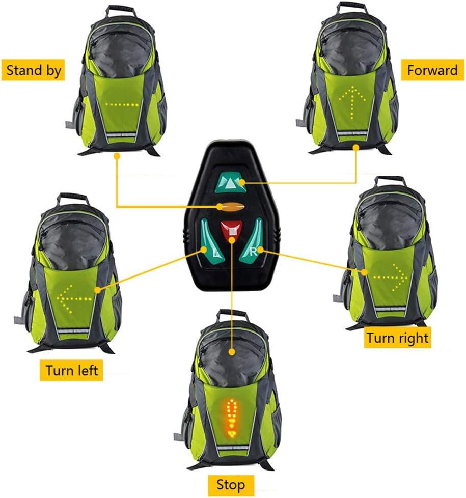 MJW LED Clignotant Sac /À Dos Sac /À Dos V/élo sans Fil T/él/écommande LED Avertissement Sac /À Dos V/élo /Étanche Ext/érieur//Course /À Pied//Marche 18L