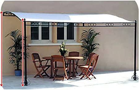 3,5 m x 2,5 m pared fijo Metal enmarcado Patio toldo Pergola Gazebo toldo Marquee: Amazon.es: Hogar