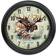 "American Expedition Moose Clock, 11.5"", Multi"