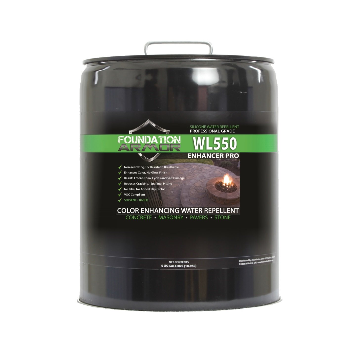 Armor WL550 Matte Wet Look Enhancer Sealer Concrete, Brick, Pavers, Stone, and Slate