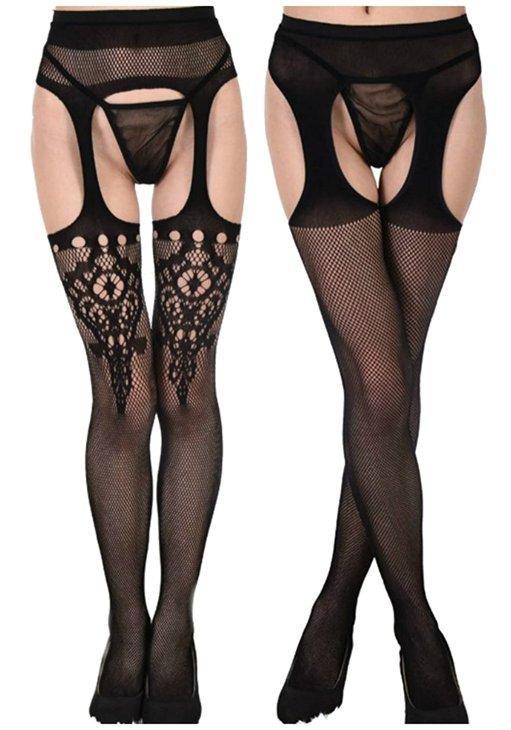 923e53cb3 Elastic closure. Package Includes  Fishnet Tights One size fits most US  size 4-12(Waist 11