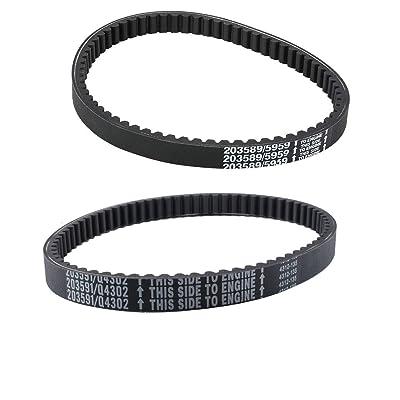 Swess 203589 Go Kart Drive Belt with Q43203W Yerf Dog Belt for Comet Manco Drive Belt (2 Pack): Automotive