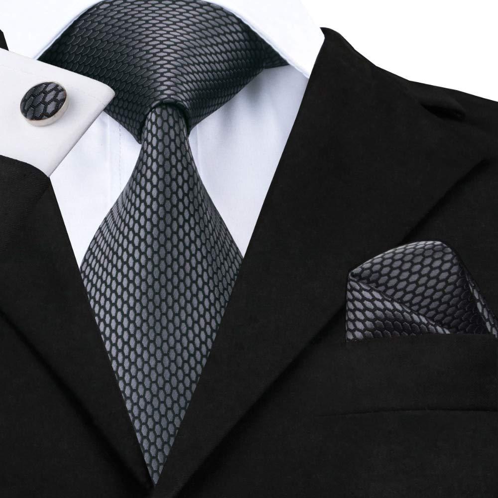 AYWEI Corbata Corbata Nueva Corbata Gris Clásica para Hombres Tela ...
