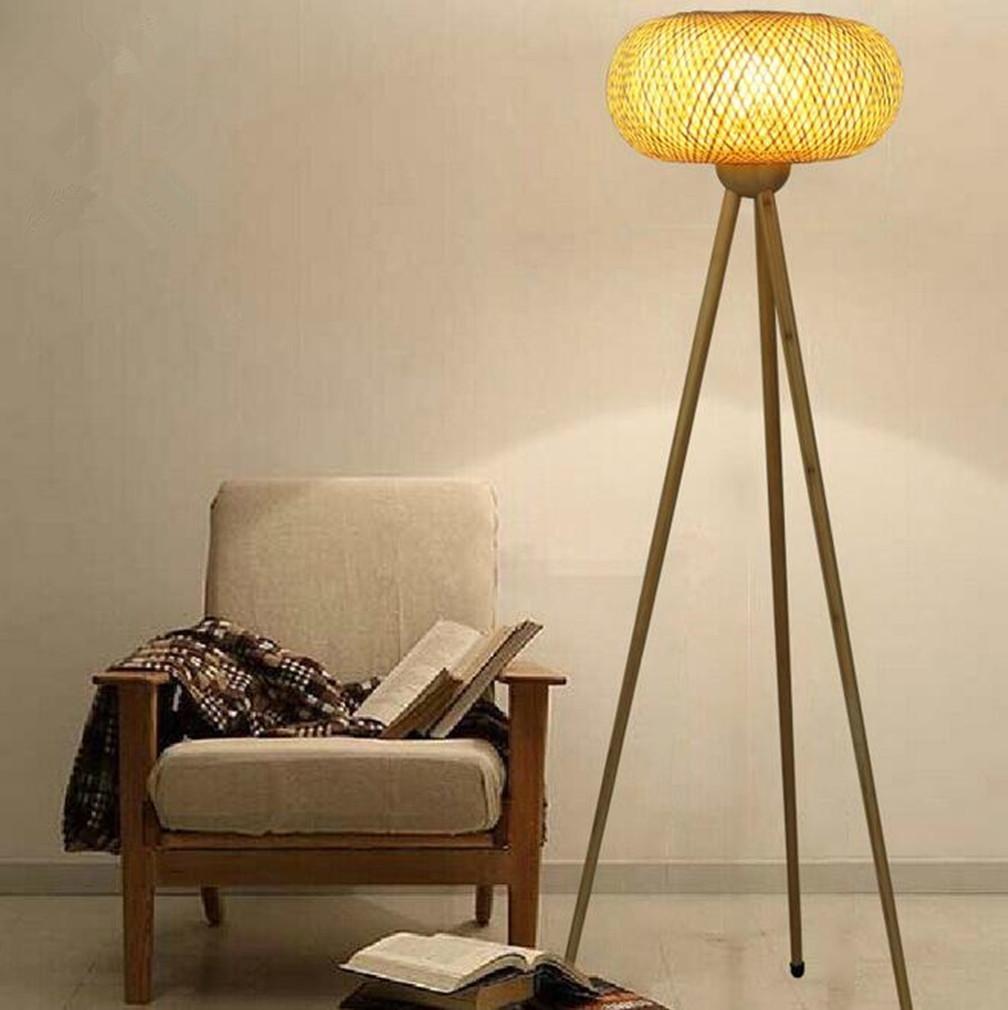 MULANG Europäische Stil Kreativ Bambus Holz Stativ Stehleuchte Wohnzimmer Schlafzimmer Büro Studio Villa Hotel Gallery Leselampe