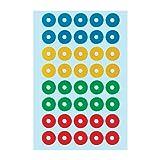 Herlitz 11296639, Self-Adhesive Reinforcement Rings 4Sheet Pack of 40