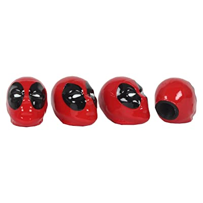 Pilot MVL-0305 Marvel Deadpool Valve Caps: Automotive
