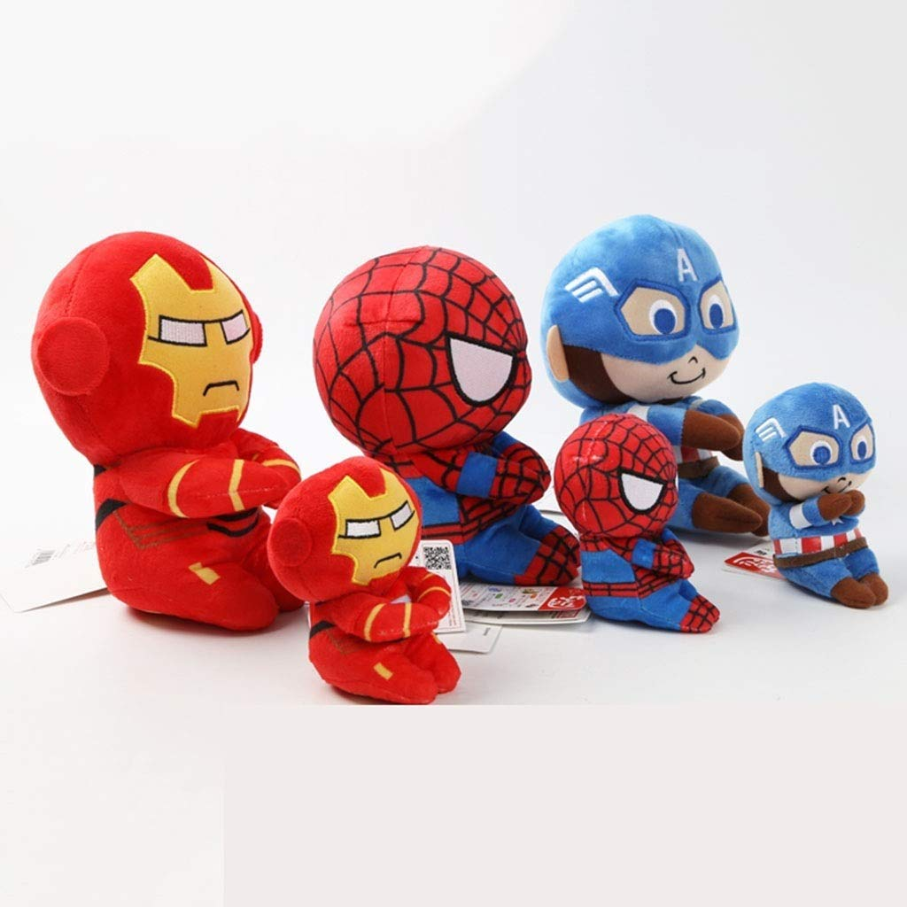 Non mollare mai Avengers Toys Captain America Death Iron Man Spiderman Sitting Photography Plush Doll Row Sitting Doll Superhero Toys Suitable for Boys and Girls (Style : A) by Non mollare mai