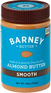 product image for BARNEY Almond Butter, Smooth, No Stir, Non-GMO, Skin-Free, Paleo Friendly, KETO, 16 Ounce