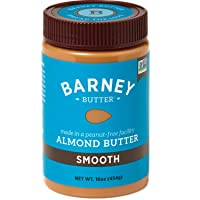 BARNEY Almond Butter, Smooth, No Stir, Non-GMO, Skin-Free, Paleo Friendly, KETO,...