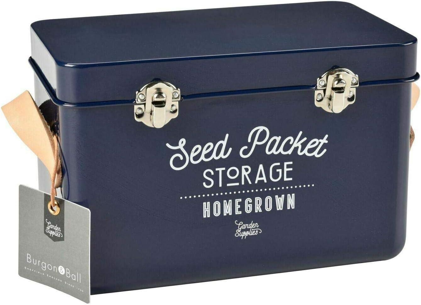 Burgon & Ball Seed Packet Storage Tin Atlantc Blue