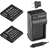 EforTek Li-50B Replacement Battery (2-Pack) and Charger Kit for Olympus LI-50B,Pentax D-li92 and Olympus Stylus 1010, 1020, 1030, 9000, 9010, SP-720UZ iHS, SP-800UZ, SP-810UZ, SZ-10, SZ-11, SZ-12, SZ-15, SZ-16 iHS, SZ-20, SZ-30MR, SZ-31MR iHS, Tough 6000, 6020, 8000, 8010, TG-610, TG-620 iHS, TG-630 iHS, TG-805, TG-810, TG-820 iHS, TG-830 iHS, TG-835, TG-850, TG-860,VG-190, VH-410, VH-515, VH-520, VR-340, VR-350, VR-370, XZ-1, XZ-10,Pentax Optio I-10, RZ10, RZ18, WG-1, WG-1 GPS, WG-2, WG-2 GPS, WG-3, WG-3 GPS, WG-4, WG-4 GPS, WG-10, X70,WG-5 GPS,WG-30,WG-30W