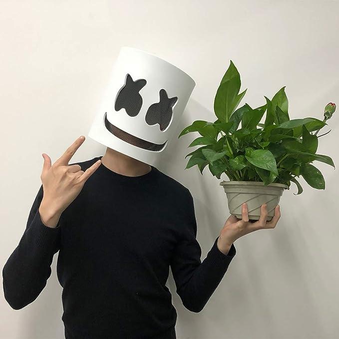 Jestool DJ Máscara, DJ Disfraz Máscara Halloween Disfraz Cabeza ...