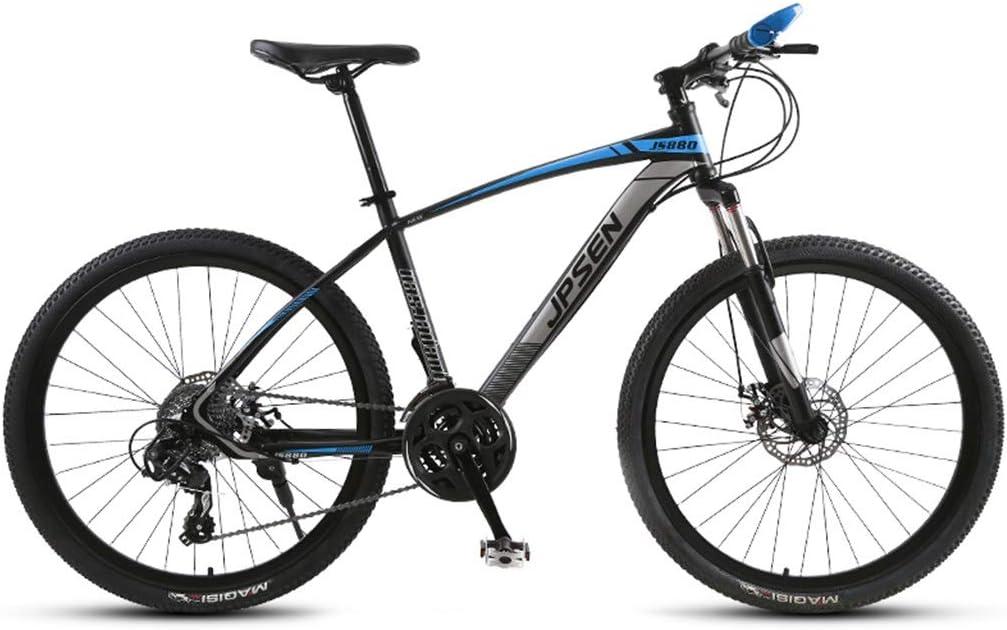 Bicicletas Triciclos Montaña para Adultos Carretera para Hombres Y Mujeres Exterior De Viaje De Verano Estudiante (Color : Blue, Size : 24inch)