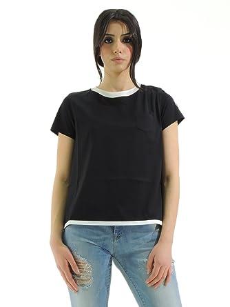 cbe48e673 Moncler Women's plain T-Shirt black black Small: Amazon.co.uk: Clothing