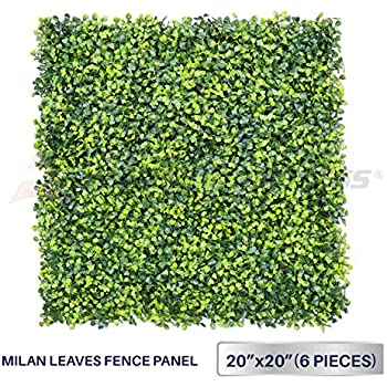this item windscreen4less artificial faux ivy leaf decorative fence screen 20 x 20 boxwood milan leaves fence patio panel 6 pcs - Decorative Fence