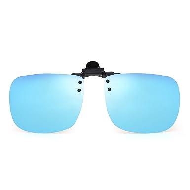 JM Polarizadas Clip en Gafas de Sol Sin Marco Flip up Lente Para Gafas Graduadas