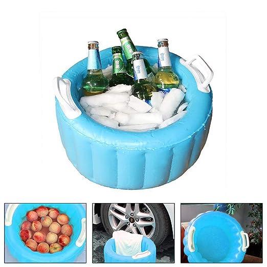 Nevera de Fiesta Inflable, cubeta de Hielo, Enfriador de Cerveza ...