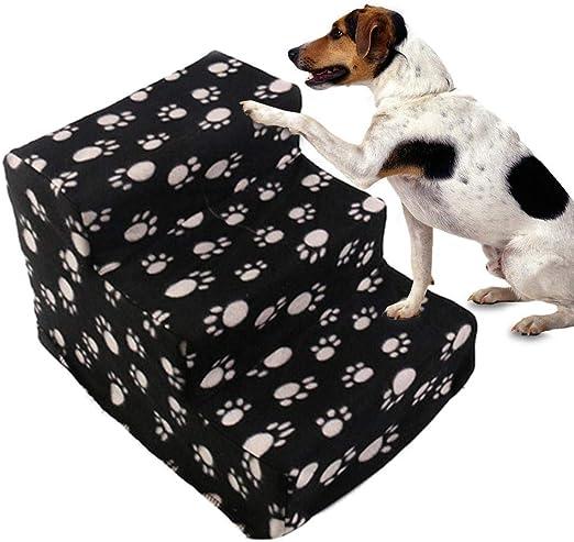 Sue-Supply Escalera para Mascotas Pasos para Gatos y Perros Escaleras para Escalar Plataforma para Saltar escaleras Mascotas Cama Sofá Escalera Pendiente 3 Pasos: Amazon.es: Productos para mascotas