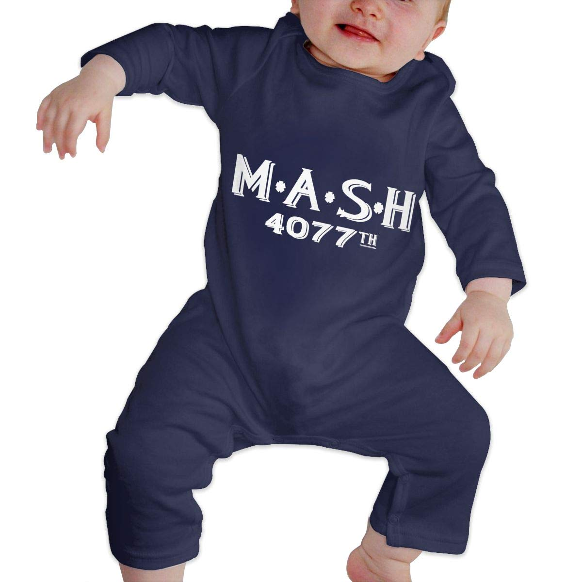MASH Distressed Hedging Unisex Long Sleeve Baby Gown Baby Bodysuit Unionsuit Footed Pajamas Romper Jumpsuit