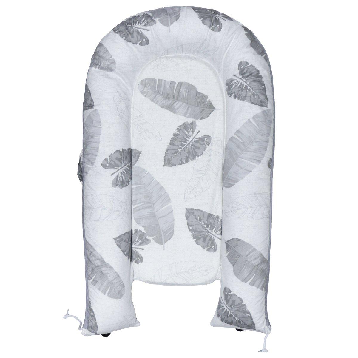 Hisprout dormir de bebe 0-6 meses pod nido desmontable lavable reversible Cocoon Corralito la cama cuna de viaje (Leaf)