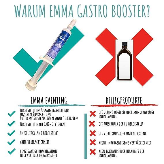 ♥EMMA Gastro Booster para caballos, alimento para caballos + levadura de cerveza, prebiótico I flora intestinal intacta, para energía Más vitaminas B, C, ...