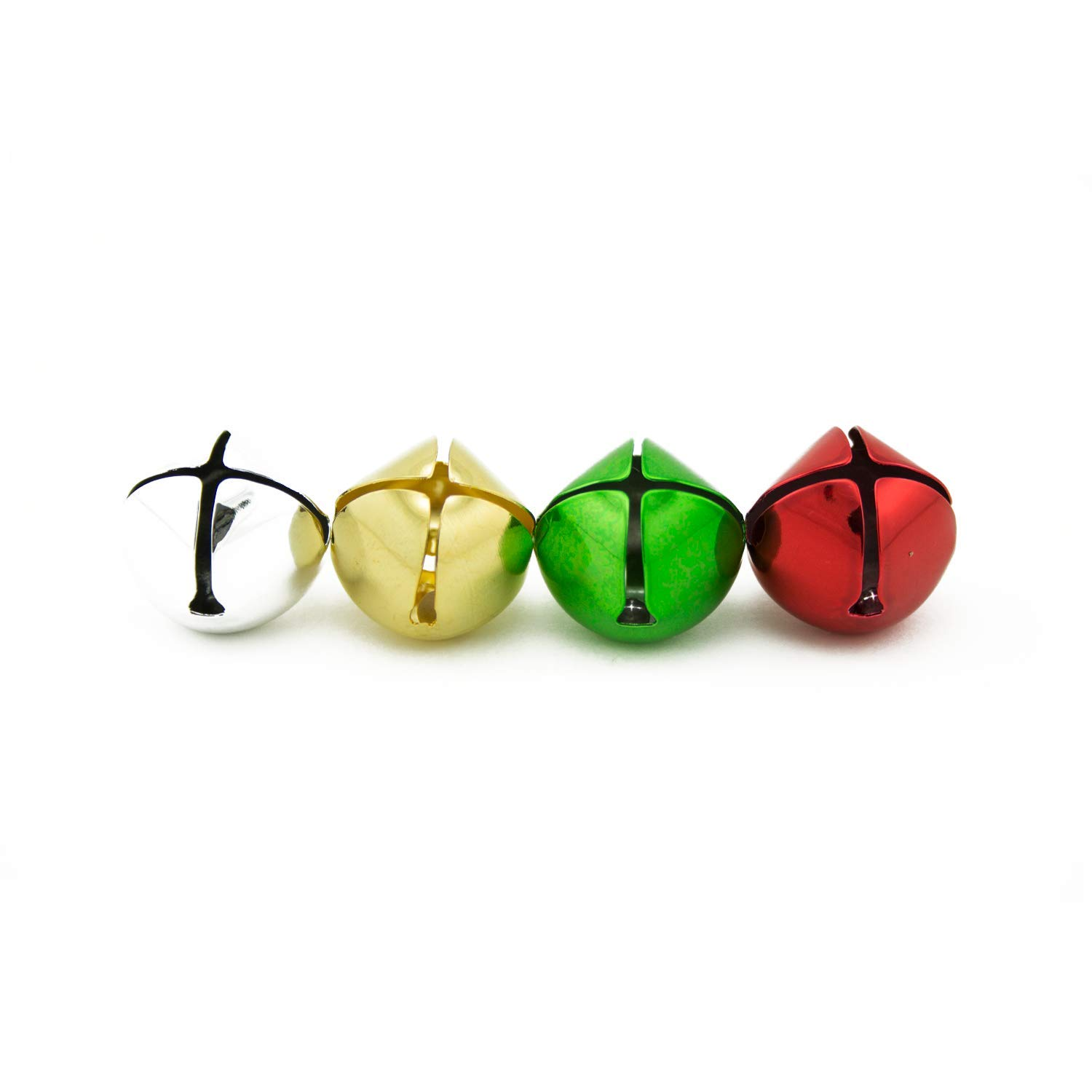 1 inch 25mm Gold Silver Red Green Mix Large Craft Jingle Bells Bulk 144 Pieces by Art Cove (Image #4)