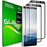 Galaxy S8 Plus Protecteur d'écran en Verre trempé, [2 Pièces] [Couverture Complète] [Dureté 9H] [HD Clear] [Anti-Rayures] Protection d'écran pour Samsung Galaxy S8 Plus
