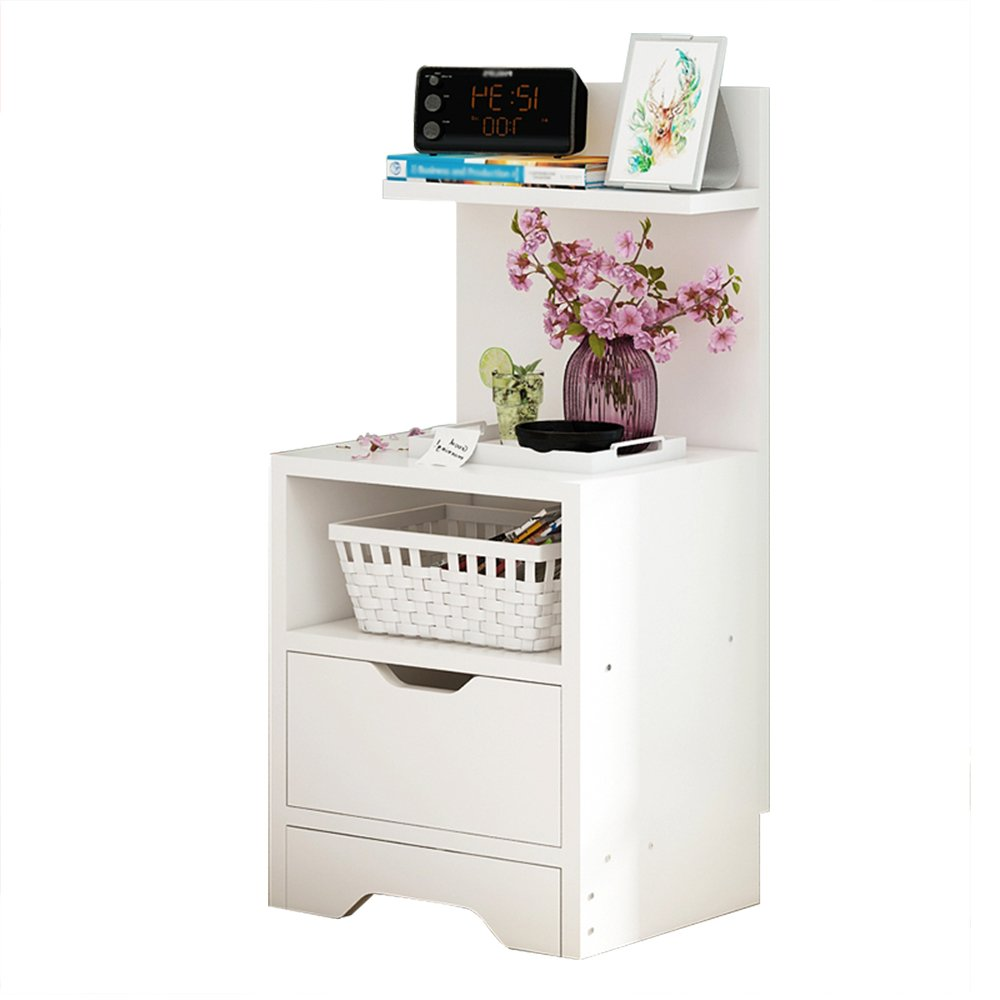 D SYF Large-Capacity Storage Bedside Table Storage Locker Bedside Locker Bedroom Bedside Small Cabinet 30X31.2X78CM A+ (color   E)